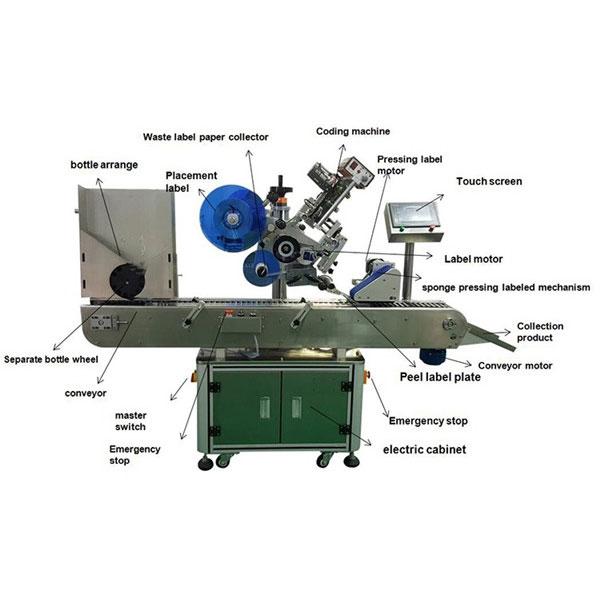 دواسازی شیشی اسٹیکر لیبلنگ مشین 10-30 ملی میٹر کے بوتل قطر