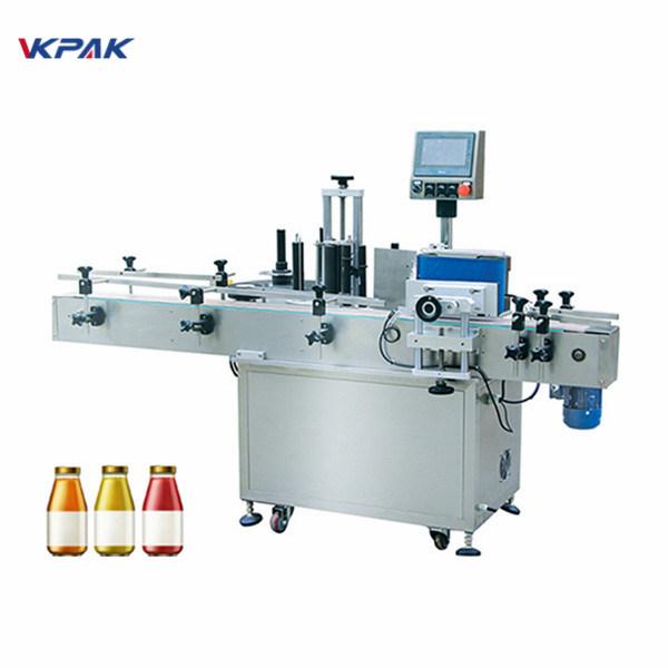 شراب کی بوتل ون سائیڈ آٹومیٹک گول بوتل لیبلنگ مشین