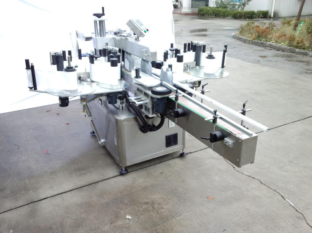 فرنٹ اور بیک سائیڈ کے ساتھ خودکار دو سائیڈ اسٹیکر لیبلنگ مشین