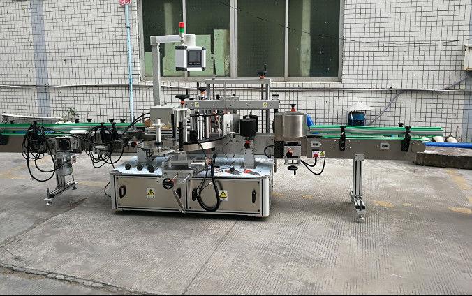 امدادی موٹر کے ساتھ دو سائیڈ آٹومیٹک اسٹیکر لیبلنگ مشین